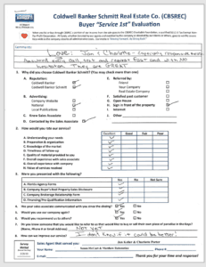 Coldwell Banker Schmitt Real Estate Buyers Evaluation Form